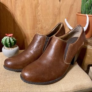 B.O.C. Brown Leather Ankle Boots
